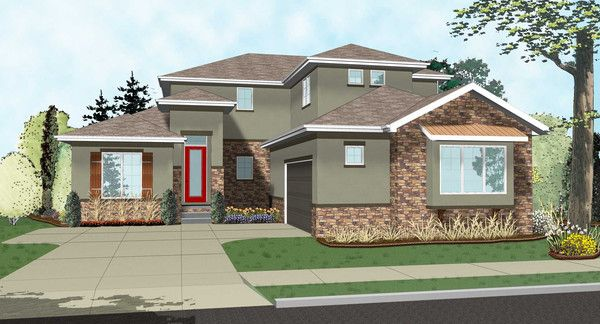 The Pearson is a Contemporary Mediterranean 1½ Story home with a sleek exterior and comfortable interior. Simple, yet very sophisticated, this plan is sure to impress as much as it is cost-effective to build.