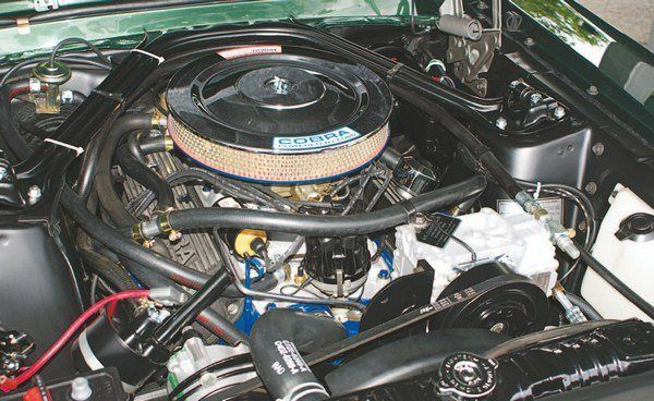 The Engine Compartment Of A 1967 Gt350 Filled Up Fast With The Addition Of Air Conditioning And Thermactor Emissions Wh Mustang Shelby Mustang Fastback Mustang