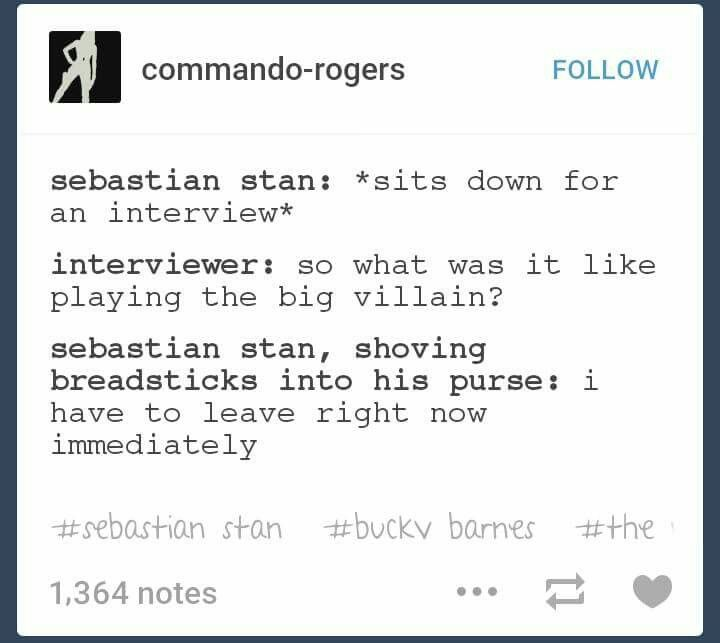 Bucky Barnes is not a villain. *shoves breadsticks into purse* I have to leave right now immediately