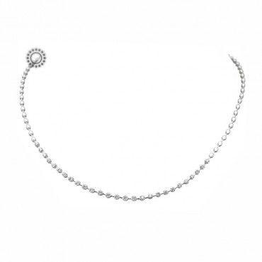 Κομψό και πολύτιμο κολιέ ριβιέρα λευκόχρυσο Κ18 με 27 διαμάντια Brilliant στην όψη του κολιέ | Κοσμηματοπωλείο ΤΣΑΛΔΑΡΗΣ στο Χαλάνδρι #ριβιερα #διαμαντια #λευκοχρυσο #κολιε