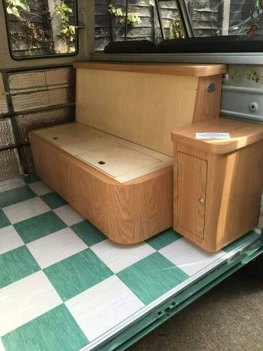 Richard c booth design interior of a camper van