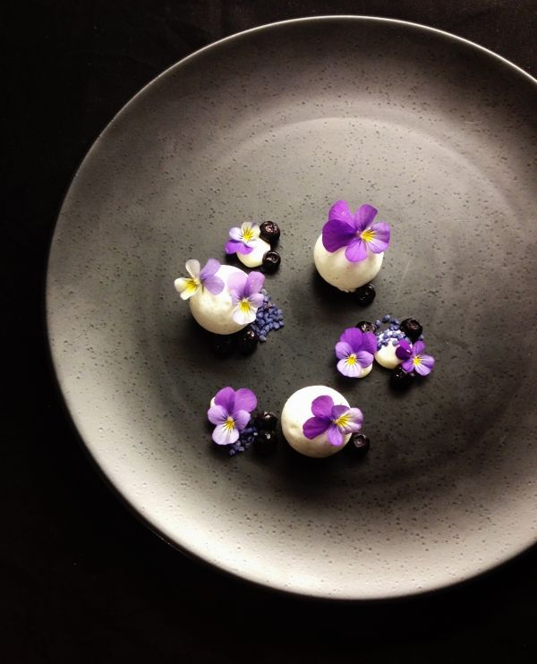 Forestblueberry, yogurt and violets - The ChefsTalk Project