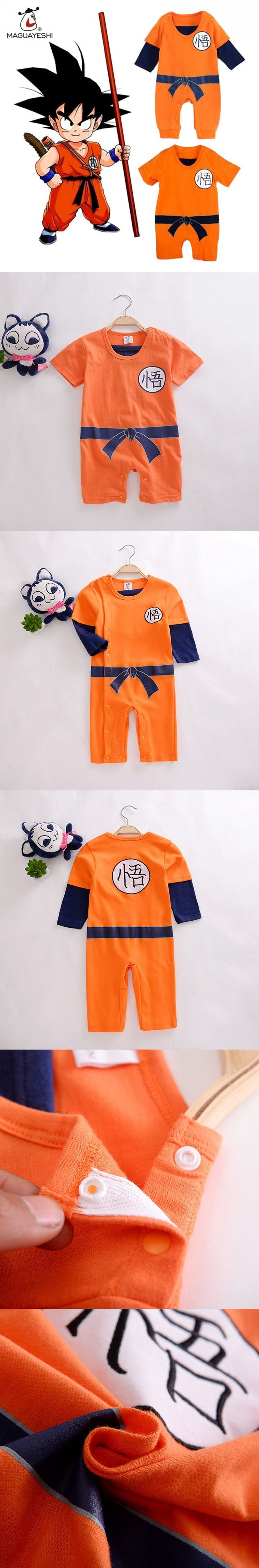 Dragon Ball Baby Rompers SON GOKU Newborn Baby Boys Clothes Toddler Jumpsuit Bebe Halloween Costumes For Baby Boy Girl Clothing $11.46