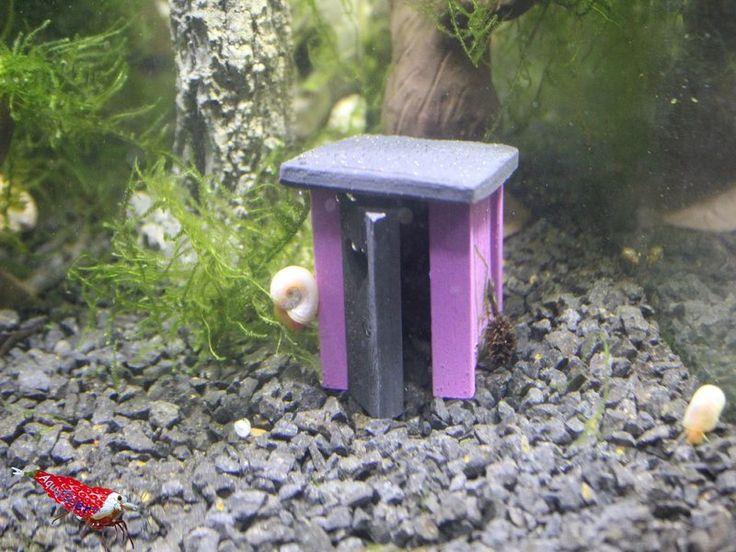 Garnelen WC - Edition Purple - Aquarium Höhle Deko Versteck
