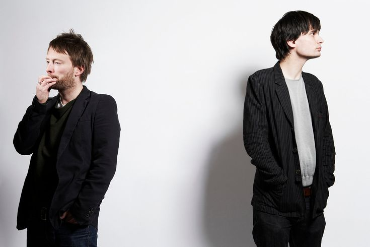 Thom Yorke and Jonny Greenwood of Radiohead