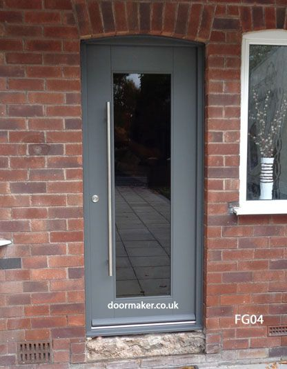 grey fully glazed door and frame