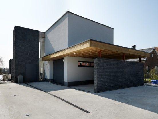 Woning met hout crepi en gevelsteen materiaal keuze for Crepis interieur