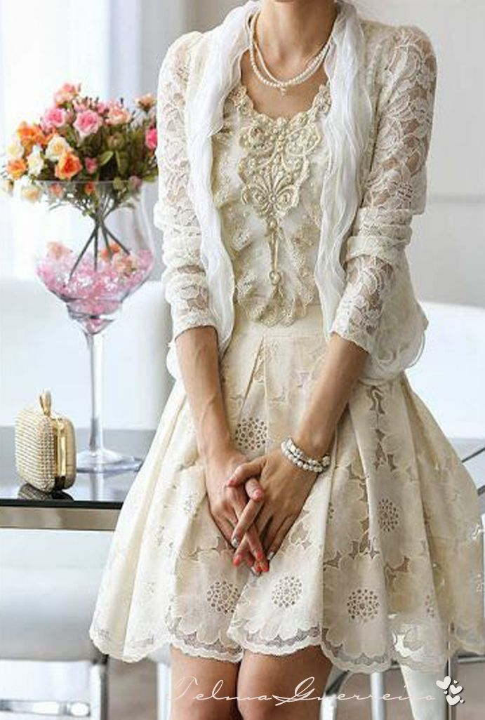 Lady-Gray-Dreams...I love lace, and pearls, and ivory white. Modern day Victorian lady ;-)