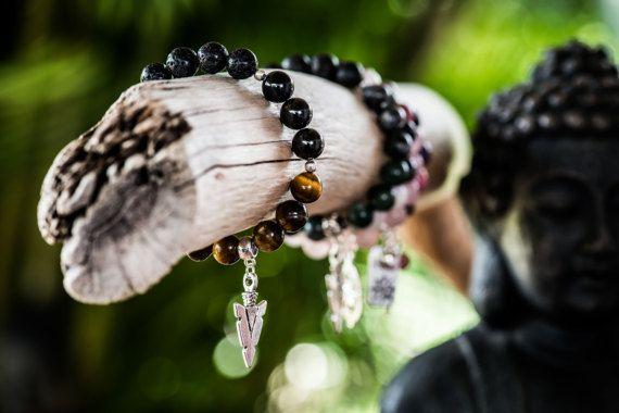 FOCUS  Aromatherapy Gemstone Diffuser Bracelet by KARHIcollection