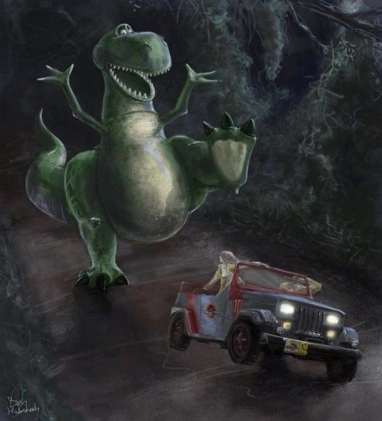 Jurassic Toy Park: Jurassic Stories, Jurassic Parks, Digital Art, Funny, Disney Pixar, Disneypixar, Toys Parks, De Toys, Toys Stories