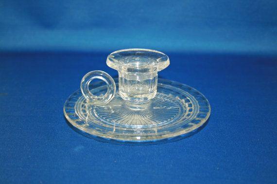 Antico EAPG chiaro primi vetro pressato americana camera candeliere titolare modello vetro
