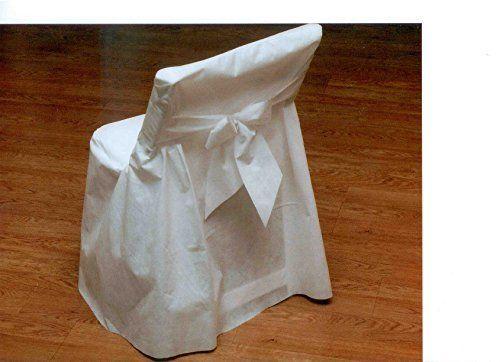 "Joyfull ""Linen look"" Folding Chair Cover 4 Pack Disposable"