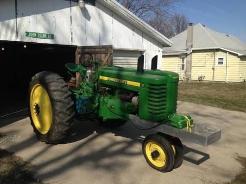 1945 John Deere G Tractor -Pulling Tractor - A good Division II tractor. Weight Brackets attached - See more at: http://www.heavyequipmentregistry.com/heavy-equipment/12022.htm