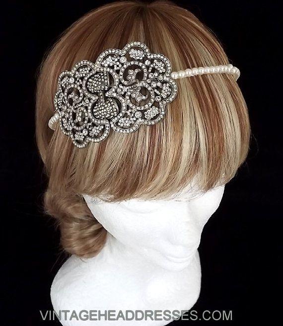 Vintage Headpiece  Art Deco Headband  Great by VintageHeaddresses, £120.00