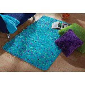 Rugs Fuzzy Rugs And Blue On Pinterest