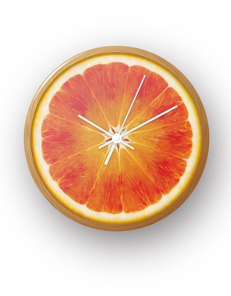 Blood Orange Clock by BLIK Clockworks