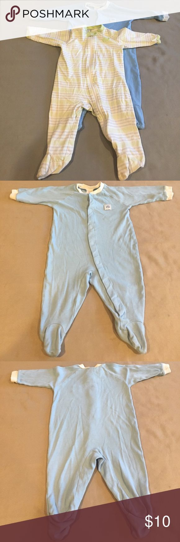💰💰5 for $20  2 Footie Pajamas 2 Footie Pajamas. Gently used. Blue footies with a little lion and white, blue and green striped footies with a turtle.  Bundle 241.      💰💰💰💰💰 You can bundle any 5 or more kids listings with 💰💰5 for $20 and make an offer. This makes all listing $4 each. If you want more then 5 listings please make the appropriate offer. I am willing to mix and match non sale listings with sale listings as well. Please ask questions. Thank you. Circo, Baby Connection…