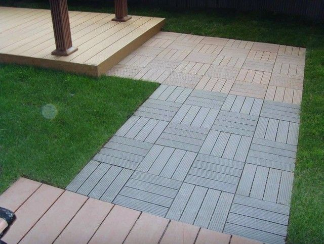 Composite Deck Tiles On Gr With