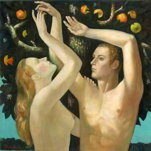 Adam & Eve Oil on Canvas by ~ Oleg Bogomolov