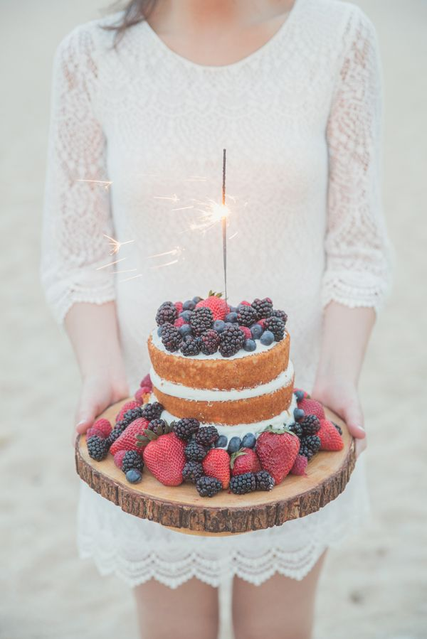naked cake | Sparkler cake | fourth of july cake | summer berries | Fourth of July inspired anniversary photo shoot | Red, white, and blue photo session | Fort Lauderdale, Florida | 13:13 Photography | www.1313photography.com
