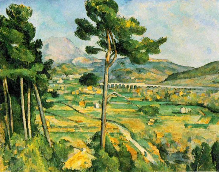 Cézanne, Paul     Mont Sainte-Victoire    1885-87 (140 Kb); Oil on canvas, 25 3/4 x 32 1/8 in; The Metropolitan Museum of Art, New York