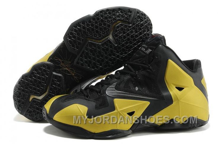 Authentique Noir MetTousic Or Nike Lebron XI 11 Boutique
