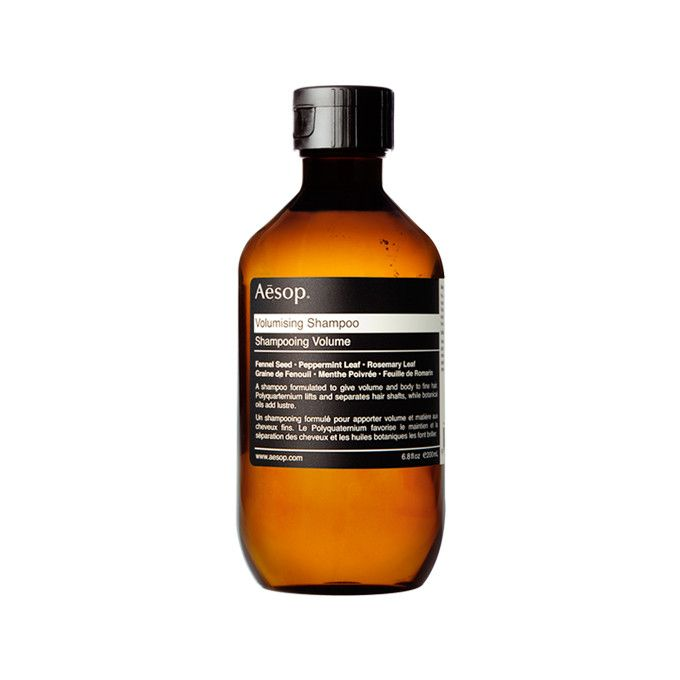 Aesop volumizing shampoo, which makes hair silky and thick