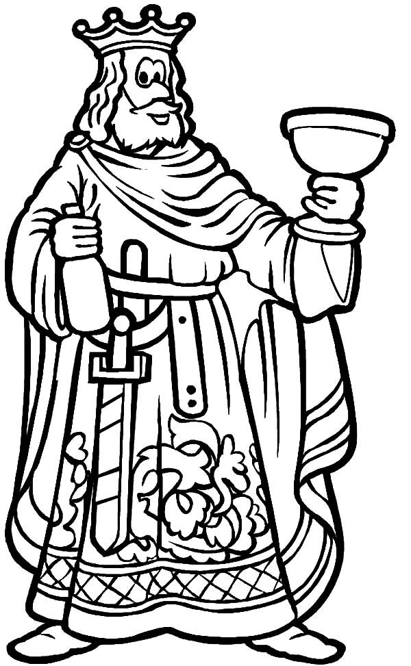 King Lift His Glass Toast Coloring Pages : Kids Play Color ...