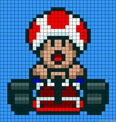 super nintendo mario kart 8 pixel characters - Google Search