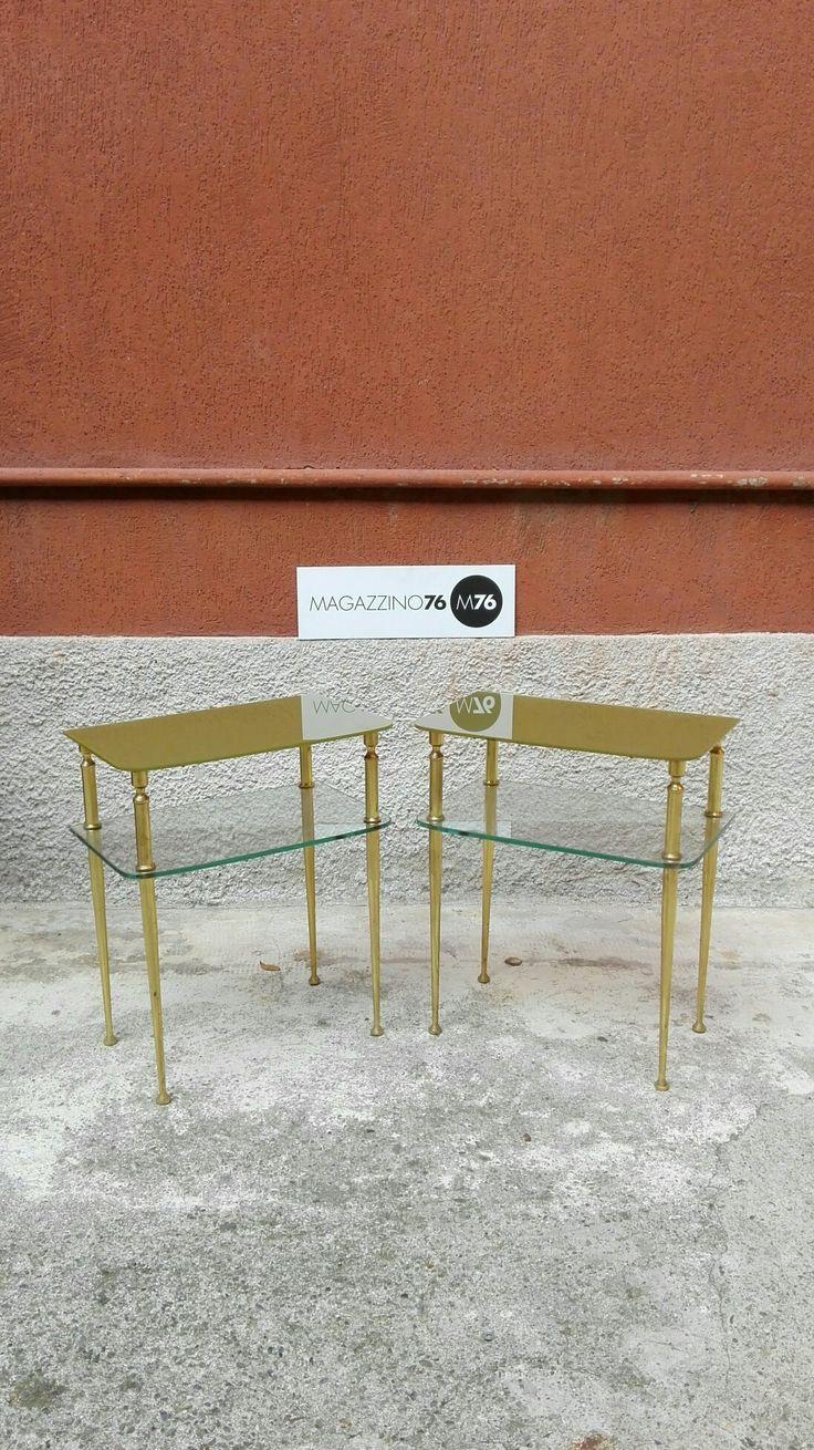 Elegante Coppia di comodini in ottone. Con due piani in vetro, sagomato e colorato. Perfettamente conservati dal 1972. Misure 40x28x45h Costo 300 la coppia. #magazzino76 #viapadova #Milano #nolo #modernariato #vintage #design #industrialdesign #design #furnituredesign #furniture #mobili #modernfurniture #table #ottone #arredo #arredodesign #brasslamp #brass #solocoseoriginali #midcentury #modern #coffeetable #anni70 #tavolino #tavoli #comodini #comodino