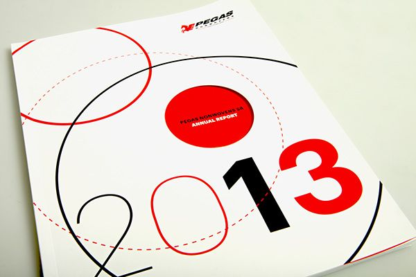 Pegas Annual Report 2013 by lamrgraphic.com, via Behance