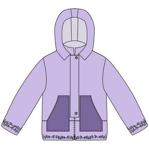 Выкройка детской куртки-ветровки