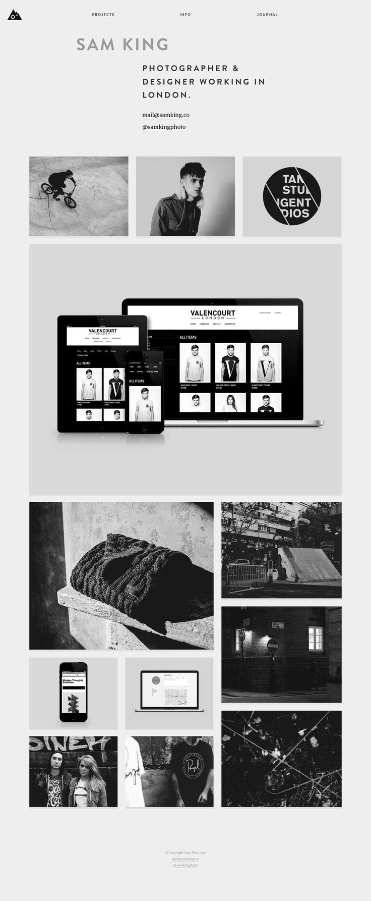 Sam King's online portfolio. Lovely responsive website.