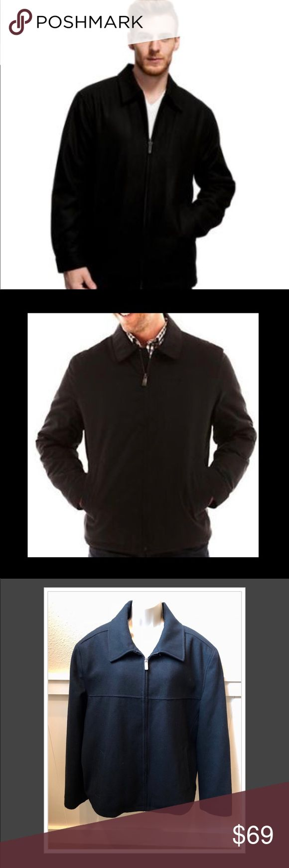Never worn stylish Dockers men's black Pea Coat! Never worn stylish Dockers men's black wool & polyester full zip up lined Pea Coat! Sz XL Dockers Jackets & Coats Pea Coats