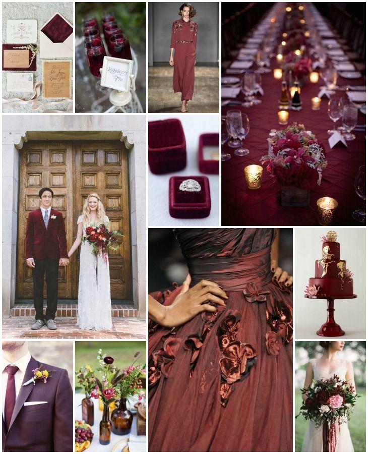 Marsala Wedding Inspiration   Bridal Musings Wedding Blog - Marsala is the anticipated wedding color of the upcoming year!