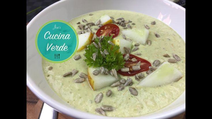 Grüne Gazpacho Suppe - Rezept | Kalte Suppe