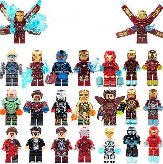 3 Pcs War Machine Minifigures Super Heroes Thanos Infinity Iron Man Lego Moc