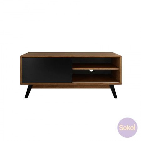 Varberg Collection - Axis TV Unit Walnut   Coffee & Side Tables   Sokol