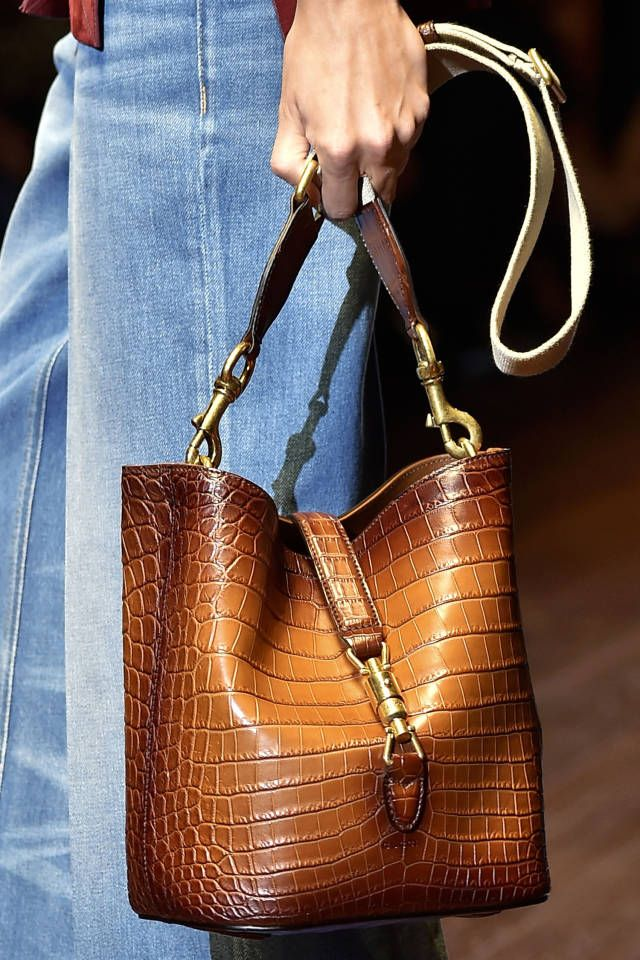 A roundup of the best accessories spotted in the spring 2015 collections: Gucci's croc bucket bag