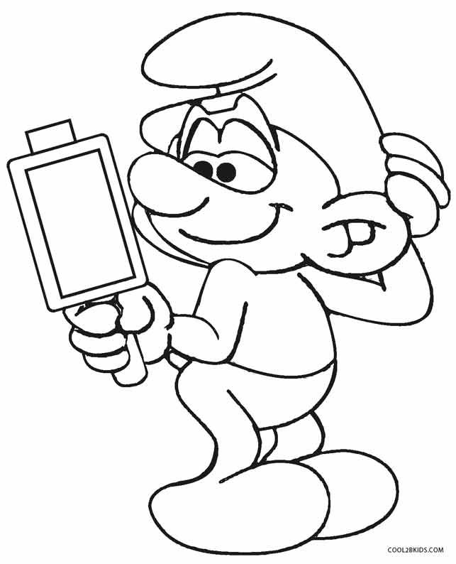 printable smurf coloring pages for kids cool2bkids