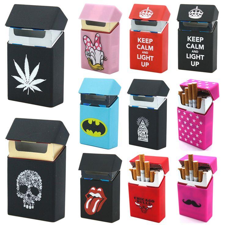 Groothandel Cool Sigaret Doos Sigaret Case Cover Siliconen Sigarettenkoker Doos Decoratie Rubber Cigarete Houder Tabak Box