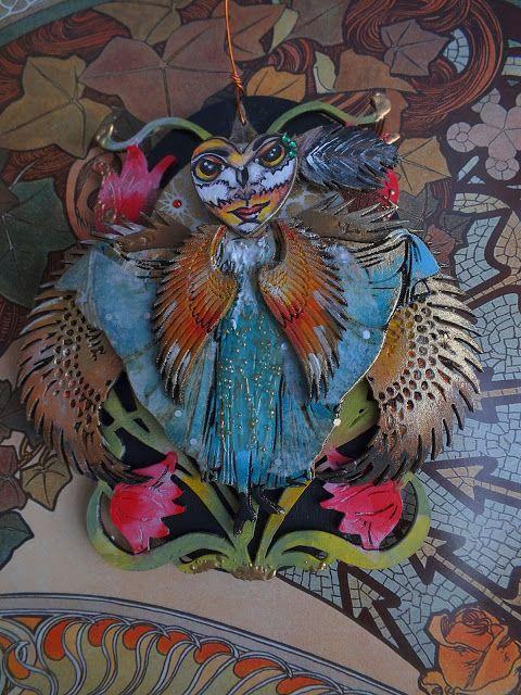 Calico Craft Parts: Art Nouveau Fantasy - hanging by Julie Ann
