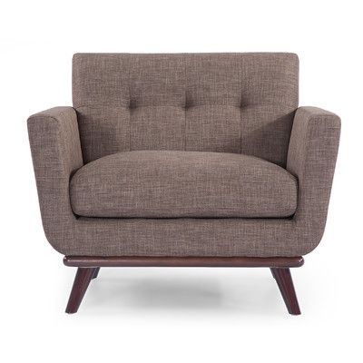 Kardiel Jackie Mid Century Modern Club Chair Color: French Press