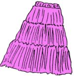 Broomstick skirt--could this actually look attractive?! It would be nice to have that skirt that you can travel with you in panty hose tube and look good wrinkled, lol.