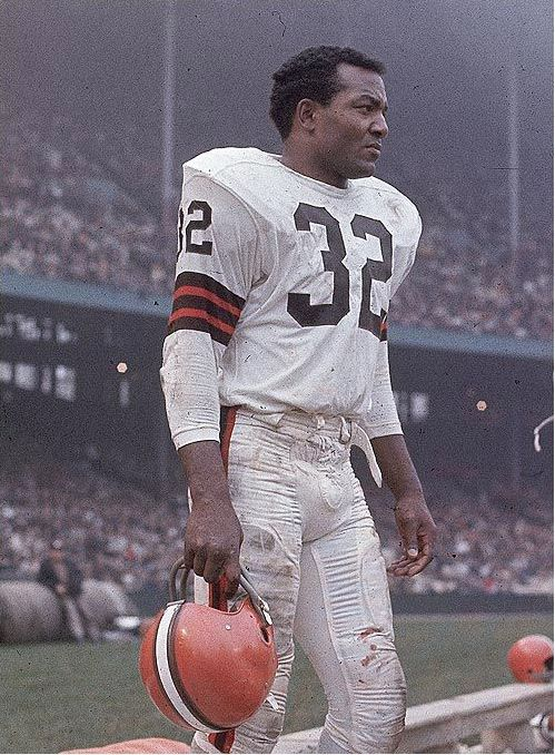 Jim Brown - he still stands as the greatest running back of all time. Played nine years with the Browns (1957-1965) and never missed a single game before retiring in 1966 to become an actor.