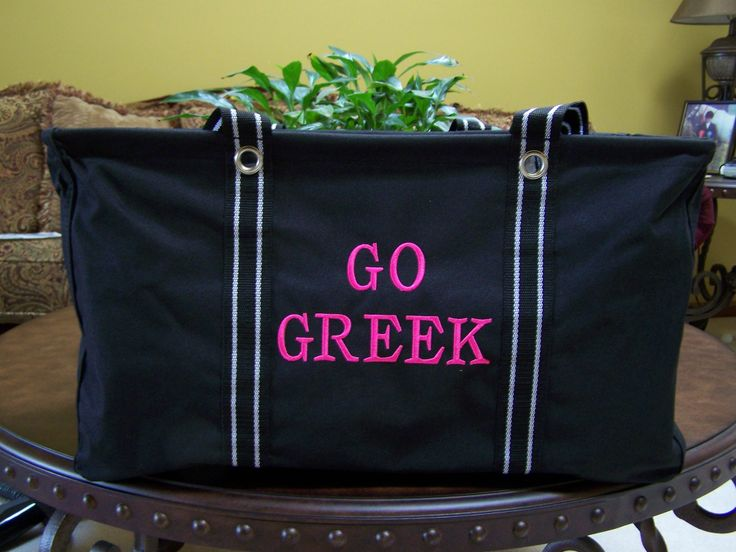 Go Greek - this will be perfect for the sorority girl in your life!! Think of all she could do with this great tote!