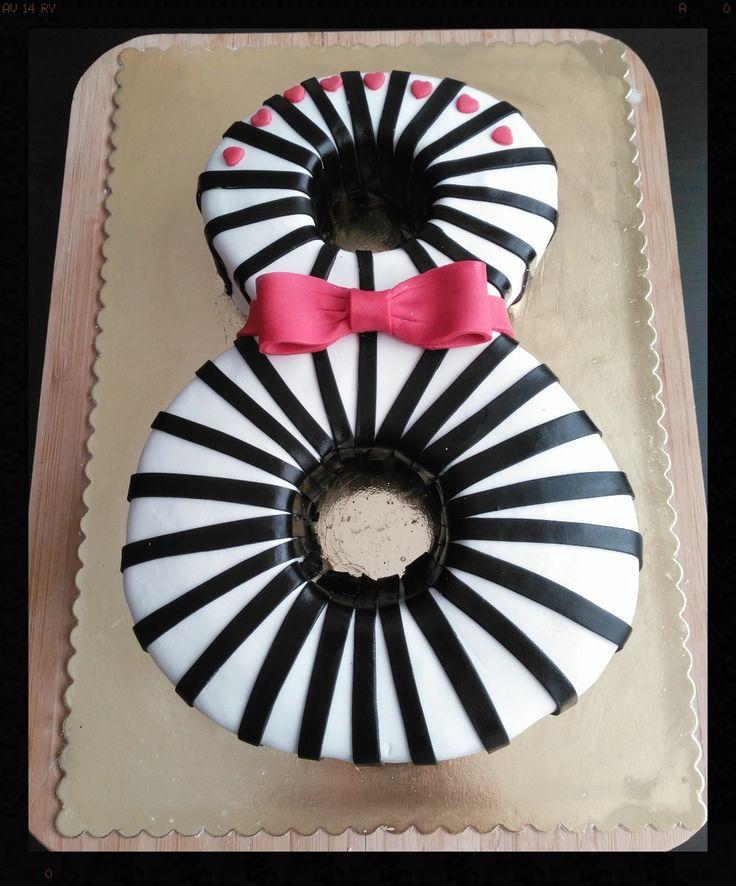 8. yıldönümü pastası