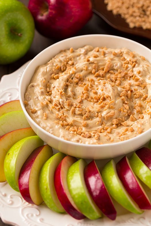 Toffee Apple Dip {3 Ingredients } | Cooking Classy