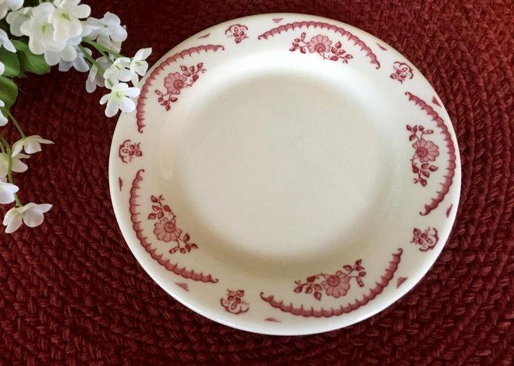 Bread Butter Plate - Chardon Rose - Caribe China, PR USA - Restaurant Ware - Red #CaribeChina