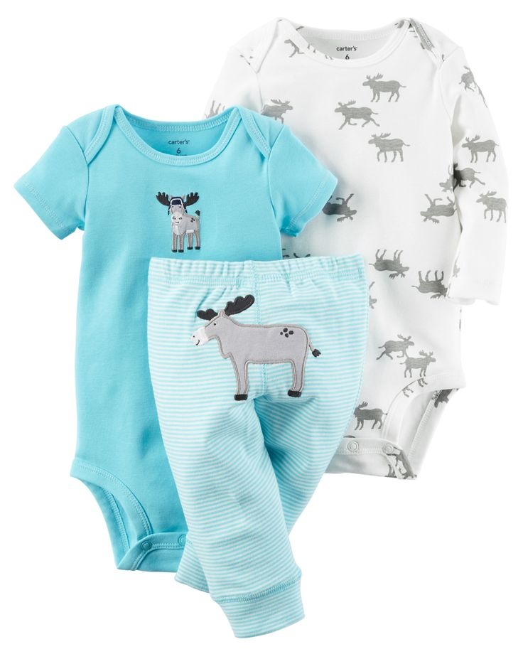 Featuring a cute little donkey on the bottom and two coordinating bodysuits…